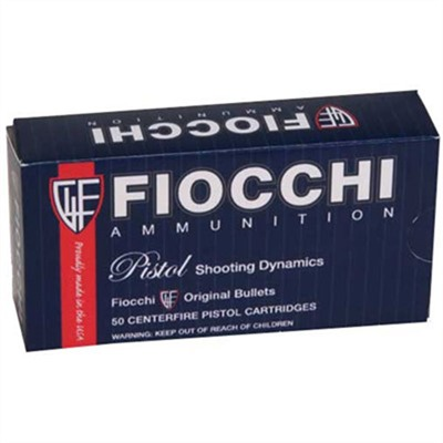 Pistol Shooting Dyanmics Ammo 38 Super 129gr FMJ by Fiocchi Ammunition