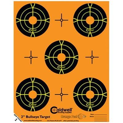 Orange Peel Bullseye Targets by Caldwell Shooting Supplies