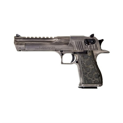 Desert Eagle Mark Xix 6in 44 Magnum White Matte Distressed 8+1rd by Magnum Research
