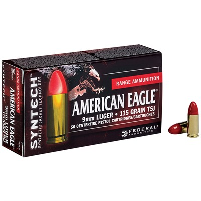 American Eagle Syntech Ammo 9mm Luger 115gr Tsj by Federal