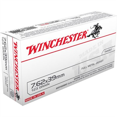 Usa White Box Ammo 7.62x39mm 123gr FMJ by Winchester