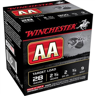 Aa Target Ammo 28 Gauge 2-3/4 & Quot; 3/4 Oz 9 Shot by Winchester