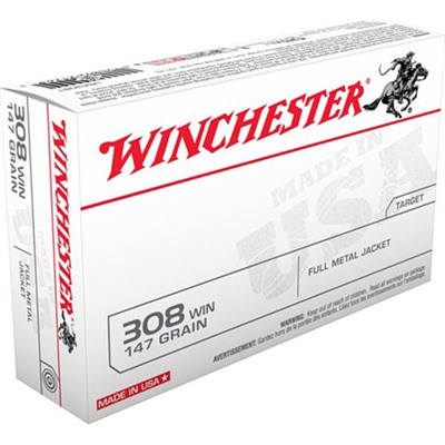 Usa White Box Ammo 308 Winchester 147gr FMJ by Winchester