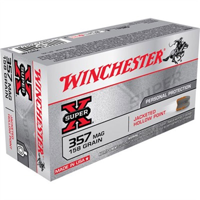 Click here to buy Super-X Ammo 357 Magnum 158gr Jhp by Winchester.
