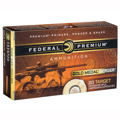 Gold Medal Berger Ammo 223 Remington 73gr Berger Boattail Target by Federal