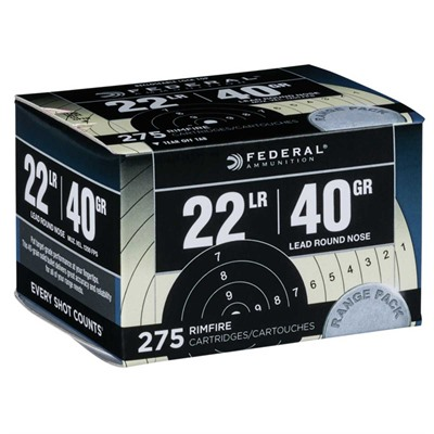 Range & Field Ammo 22 Long Rifle 40gr Lead Round Nose by Federal