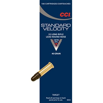 Standard Velocity Ammo 22 Long Rifle 40gr Lead Round Nose by Cci