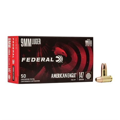 American Eagle Ammo 9mm Luger 147gr FMJ-Fn by American Eagle