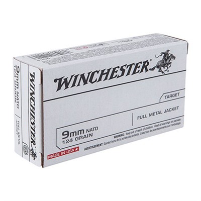 Usa White Box Ammo 9mm Nato 124gr FMJ by Winchester