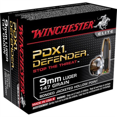 Pdx1 Defender Ammo 9mm Luger 147gr Hp by Winchester