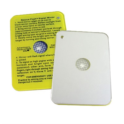 Click here to buy First Aid Emergency: Flash Mirror by Adventure Medical Kits.