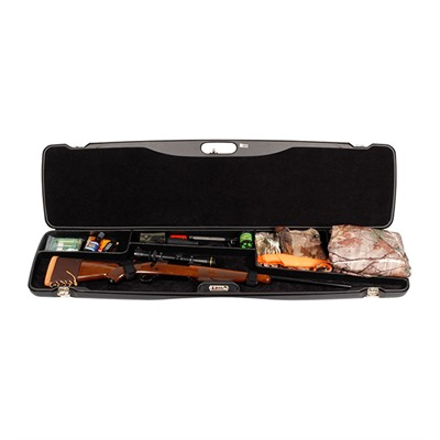 Deluxe Scoped Rifle Case with Gear Compartment by Negrini Cases