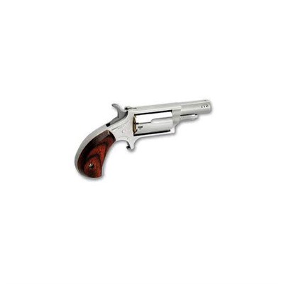 Click here to buy Mini-Revolver Prtd 1.625in 22 Wmr Stainless Wood Fixed 5rd by North American Arms.