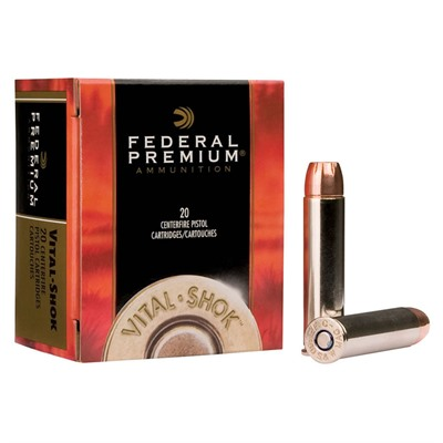Click here to buy Vital-Shok Ammo 44 Rem Mag 225gr Barnes Xpander by Federal.