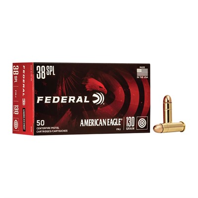 Click here to buy American Eagle Ammo 38 Special 130gr FMJ by American Eagle.
