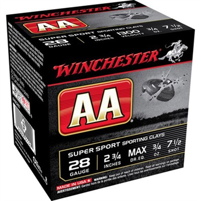 Aa Target Ammo 28 Gauge 2-3/4 & Quot; 3/4 Oz 7.5 Shot by Winchester