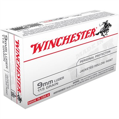 Usa White Box Ammo 9mm Luger 115gr Jhp by Winchester