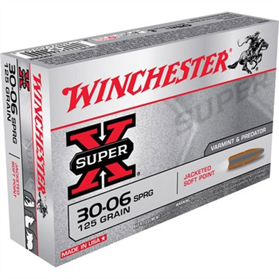 Super-X Ammo 30-06 Springfield 125gr Pointed Sp by Winchester