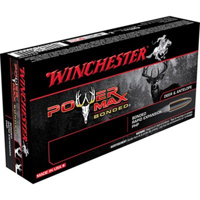 Click here to buy Power Max Bonded Ammo 30-30 Winchester 150gr Bonded by Winchester.