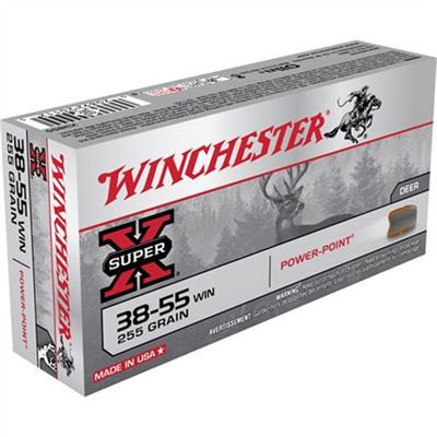 Click here to buy Super-X Ammo 38-55 Winchester 255gr Sp by Winchester.