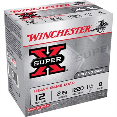 Super-X Heavy Game Load Ammo 12 Gauge 2-3/4 & Quot; 1-1/4 Oz 8 Shot by Winchester
