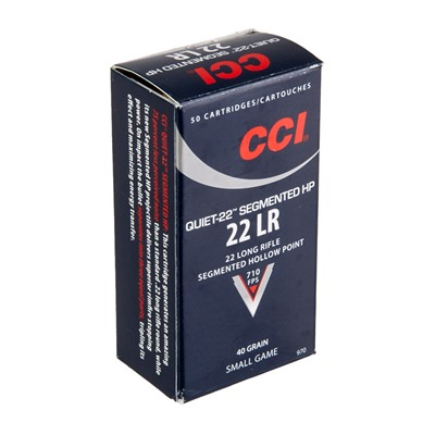Quiet 22 Ammo 22 Long Rifle 40gr Segmented Hp Subsonic by Cci