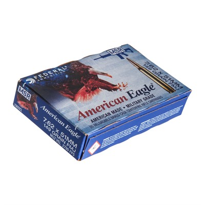 Click here to buy American Eagle Ammo 7.62x51mm Nato 149gr Xm80 by Federal.