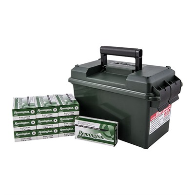 Click here to buy Umc Ammo 9mm Luger 115gr FMJ Ammo Can by Remington.
