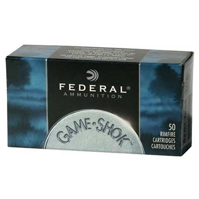 Click here to buy Game-Shok Ammo 22 Long Rifle 38gr Copper Plated Hollow Point by Federal.