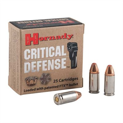 Critical Defense Ammo 9mm Luger 115gr Ftx by Hornady