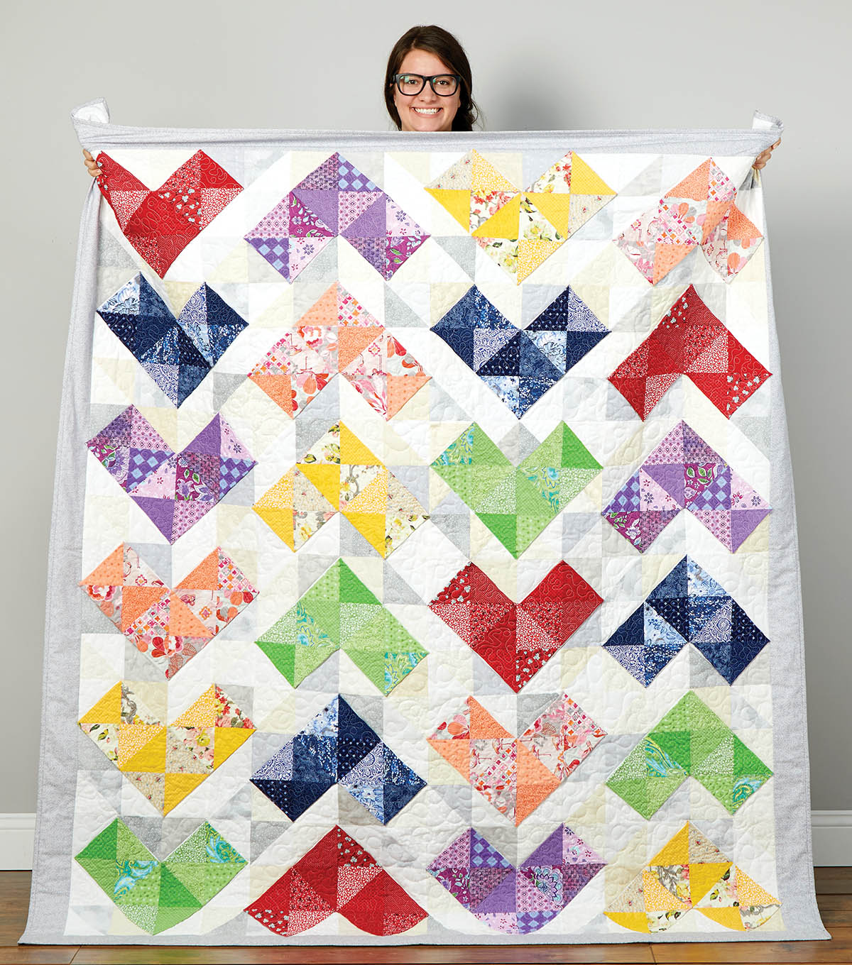 How To Make A Chevron Design Quilt
