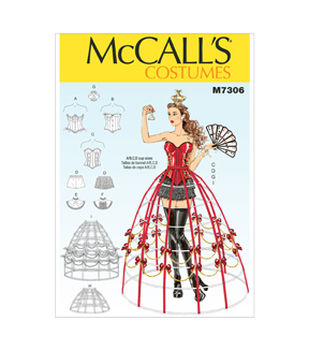 Steampunk Sewing Patterns- Dresses, Coats, Plus Sizes, Men's Patterns McCalls Pattern M7306-Corsets Shorts Collars Hoop Skirts and Crown $10.77 AT vintagedancer.com
