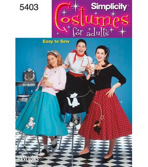 1950s Sewing Patterns | Swing and Wiggle Dresses, Skirts Poodle Skirt Pattern $8.99 AT vintagedancer.com