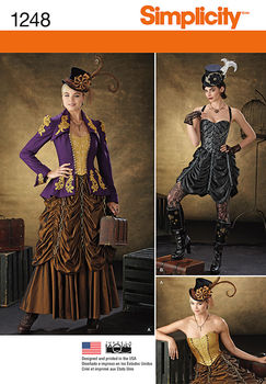 Steampunk Sewing Patterns- Dresses, Coats, Plus Sizes, Men's Patterns Steampunk Costume 1248 $11.97 AT vintagedancer.com