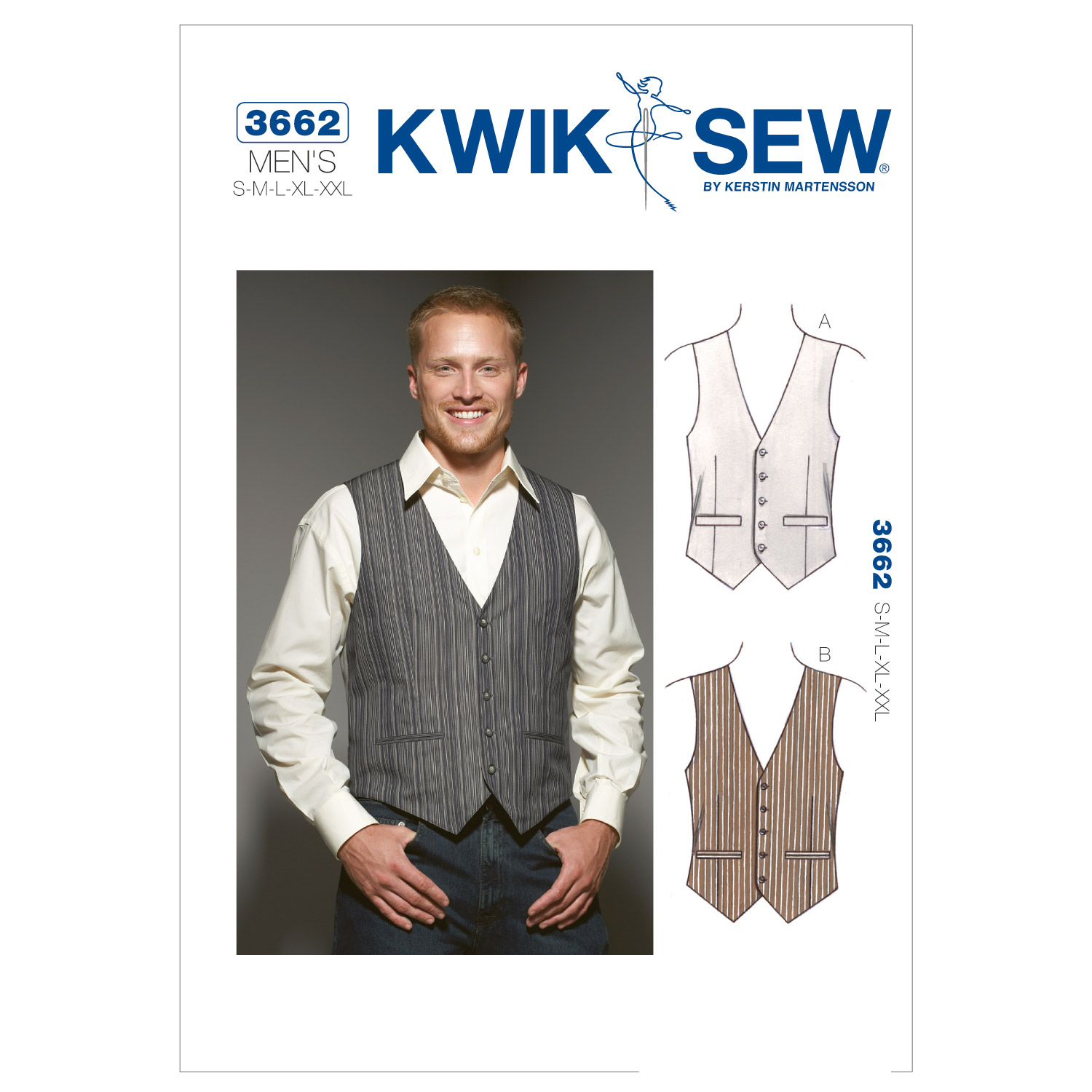 Men's Vintage Reproduction Sewing Patterns Basic Vest  AT vintagedancer.com