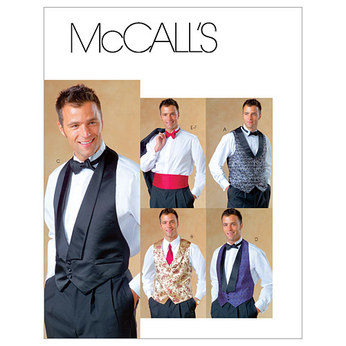 Men's Vintage Reproduction Sewing Patterns Formal vests  AT vintagedancer.com