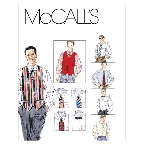 1940s Mens Clothing Kwik Sew Mens Top-K3484  AT vintagedancer.com