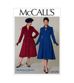 1950s Sewing Patterns | Swing and Wiggle Dresses, Skirts Classic Coats $11.97 AT vintagedancer.com