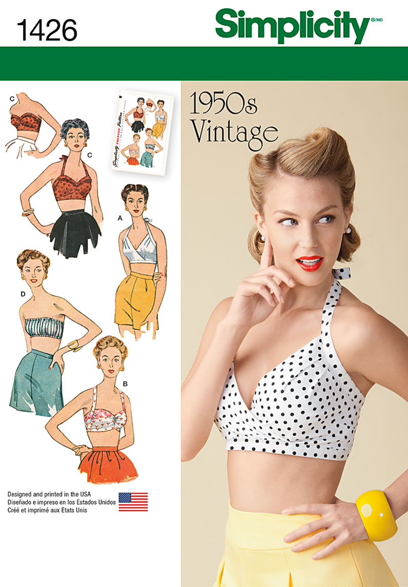 1950s Sewing Patterns | Swing and Wiggle Dresses, Skirts 1950s Tops $10.77 AT vintagedancer.com