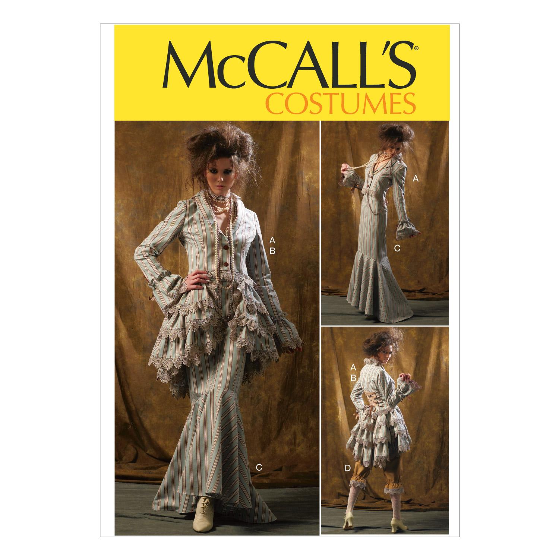 Steampunk Sewing Patterns- Dresses, Coats, Plus Sizes, Men's Patterns McCalls Pattern M6911-Bolero Corset Skirt and Pick-up Overskirt $11.37 AT vintagedancer.com