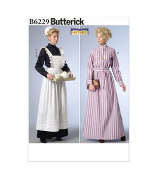 Edwardian Sewing Patterns- Dresses, Skirts, Blouses, Costumes Day Dress and Apron $11.97 AT vintagedancer.com