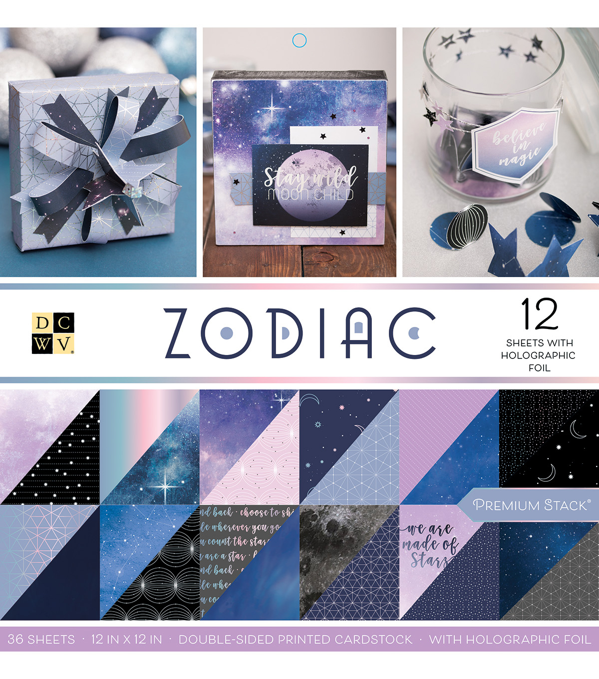Dcwv 36 Pack 12''x12'' Premium Stack Printed Cardstock Zodiac              Dcwv 36 Pack 12''x12'' Premium Stack Printed Cardstock Zodiac by Dcwv