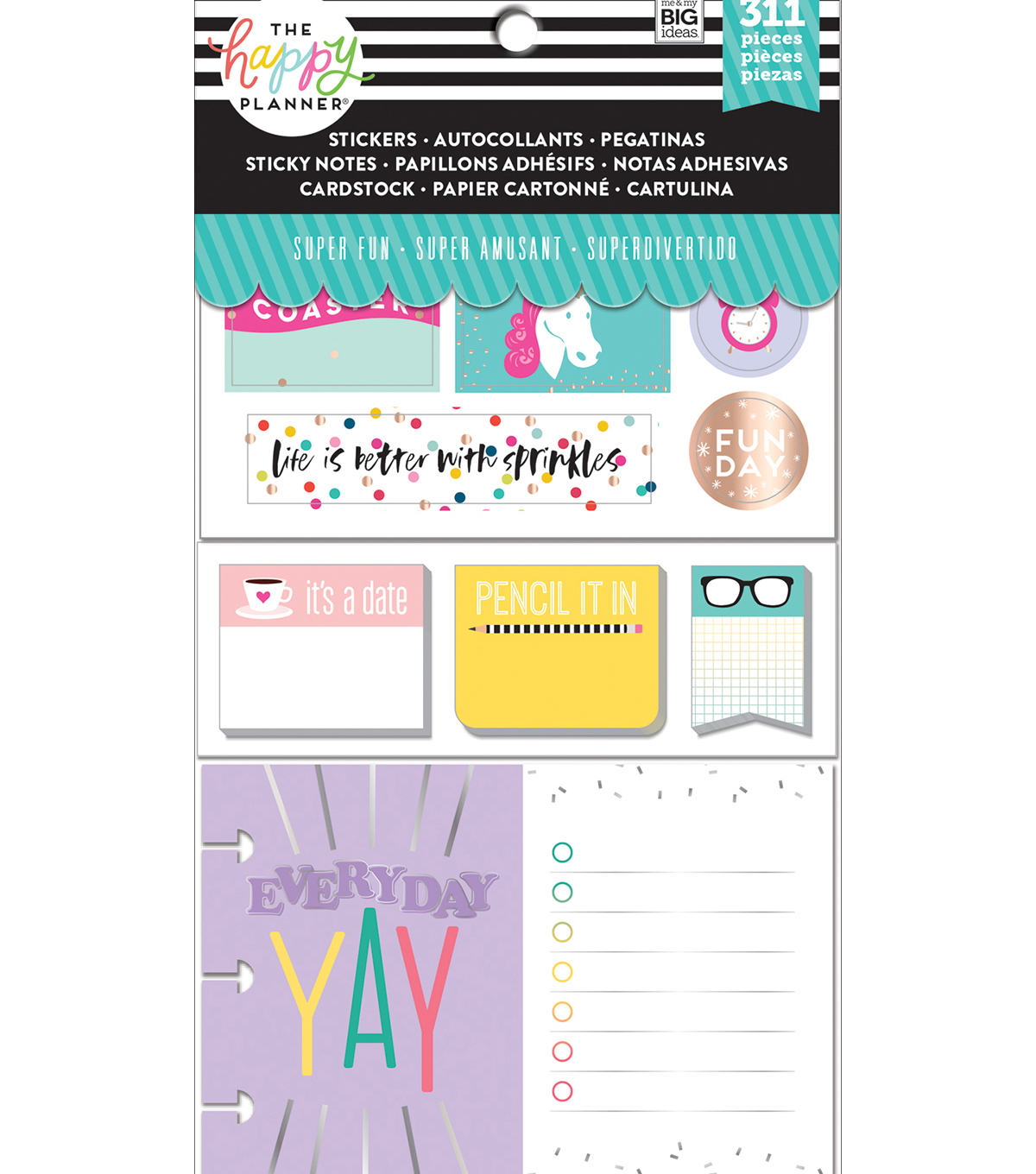 Coordinated Happy Planner Accessories   Super Fun                      Coordinated Happy Planner Accessories   Super Fun by The Happy Planner