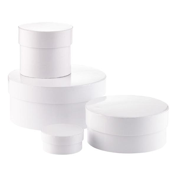 Round White Gift Boxes by Container Store