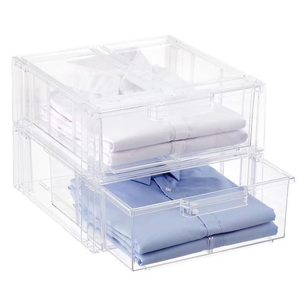 Clear Stackable Shirt &Amp; Accessory Drawer by Container Store