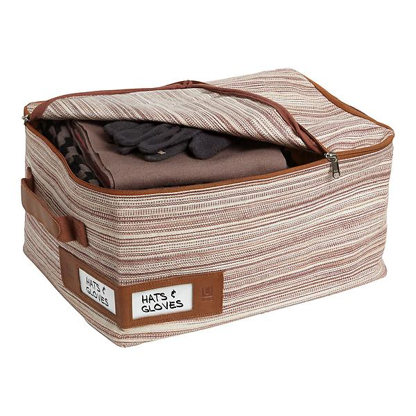 Umbra Small Brown Artisan Crunch Storage Bag by Container Store